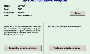 Программы Epson Adjustment Program для сброса памперсов
