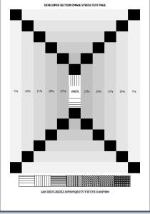Тестовый лист для проверки оттенков серого