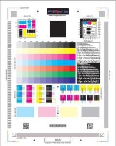 Тест лист для проверки юстировки печатающей головки в струйном принтере
