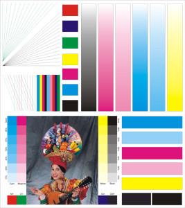 Тестовый лист для проверки цветных принтеров