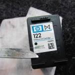 Как заправить струйный картридж HP 122