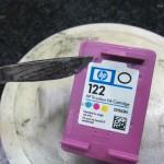 Как заправить цветной струйный картридж HP 122