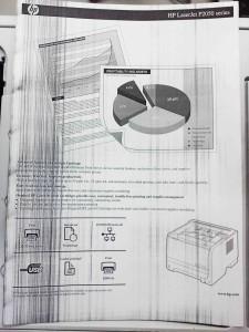 черные полосы при печати на лазерном принтере